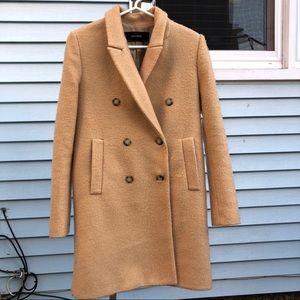 Zara basic longline coat